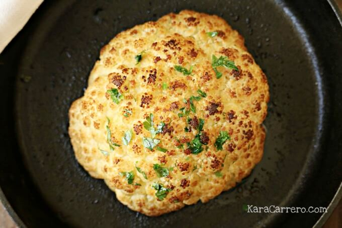 cast iron baked cauliflower recipe
