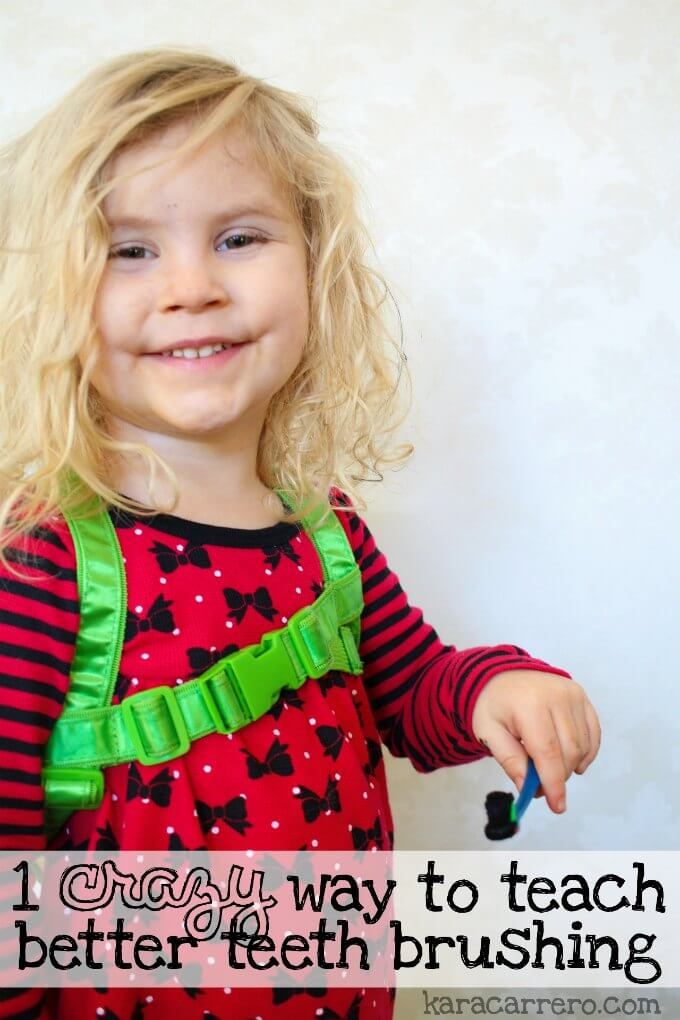 1 seriously crazy but fun and easy way to teach toddlers and preschoolers to bush their teeth!
