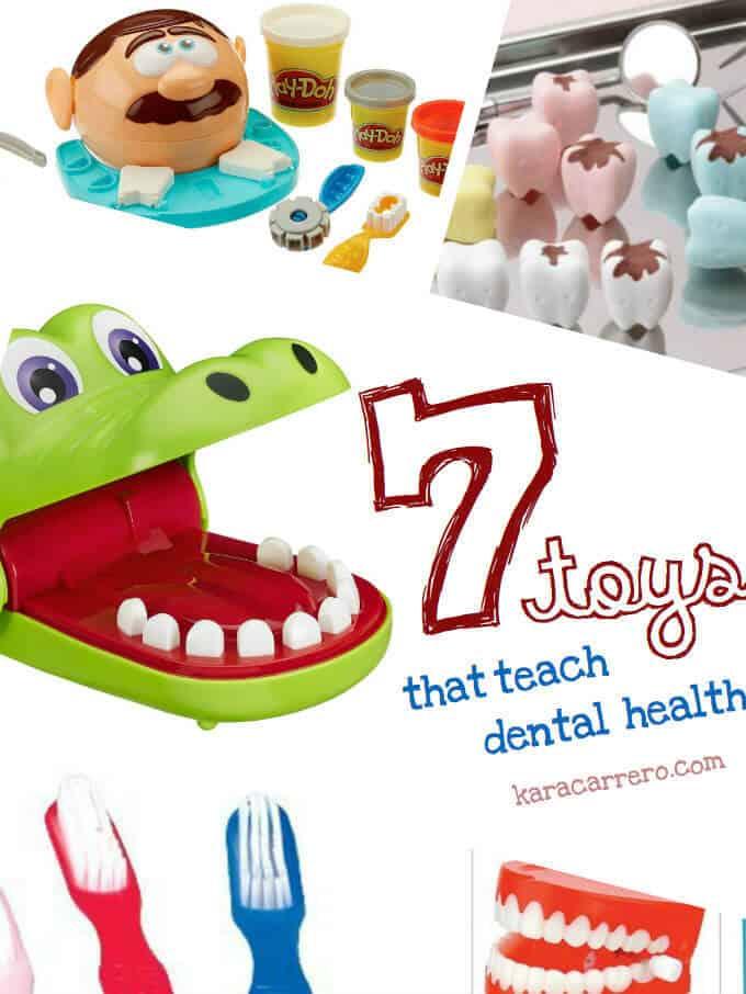 7 toys to teach dental health and hygiene to kids