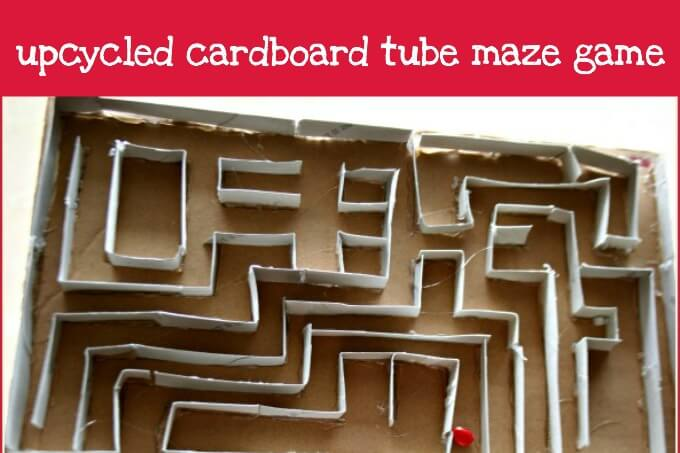 Upcycled Cardboard Tube Maze Game
