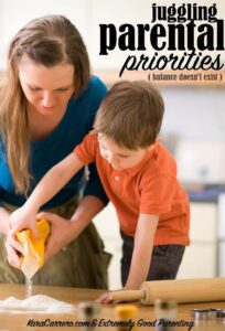 how to juggle priorities as a parent