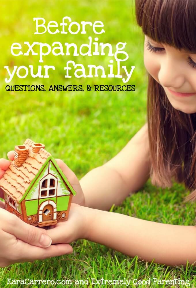 Questions, answers, and resources to go through before deciding if you should have another baby and expand your family.