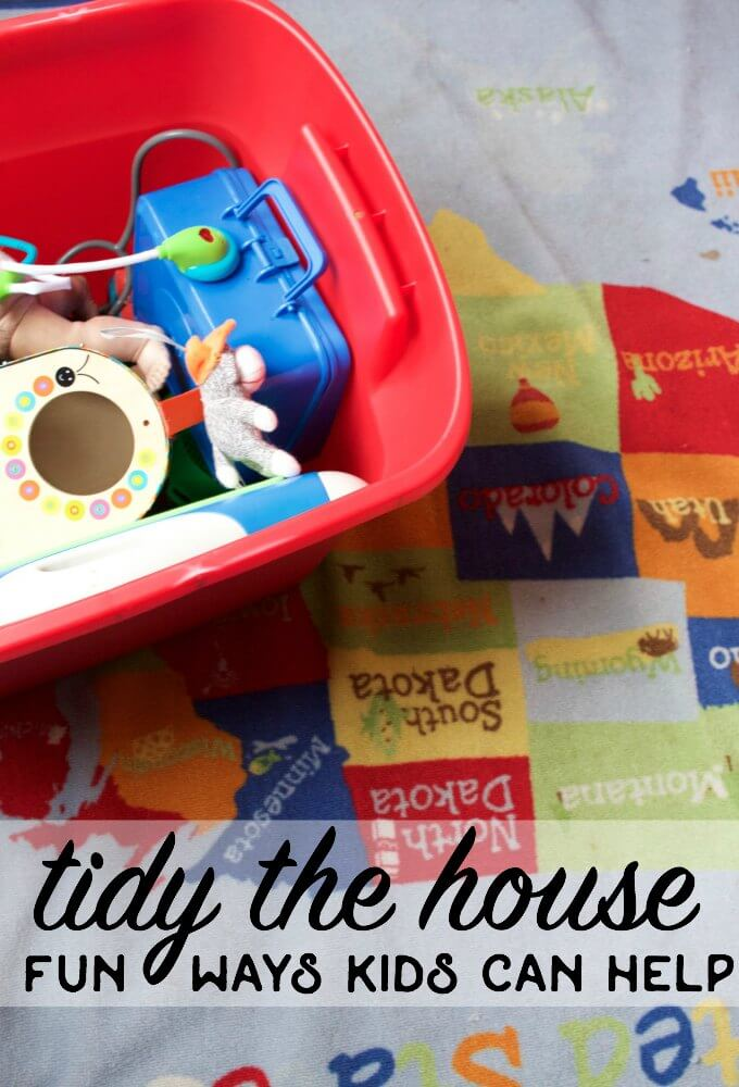 how kids can help clean and tidy the house