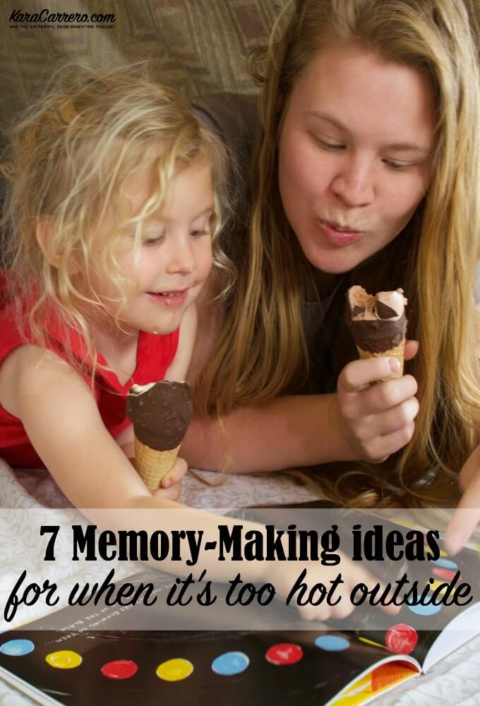 Ideas for parents and grandparents to make this summer special with fun ways to play and enjoy each other when it's too hot to play outside.