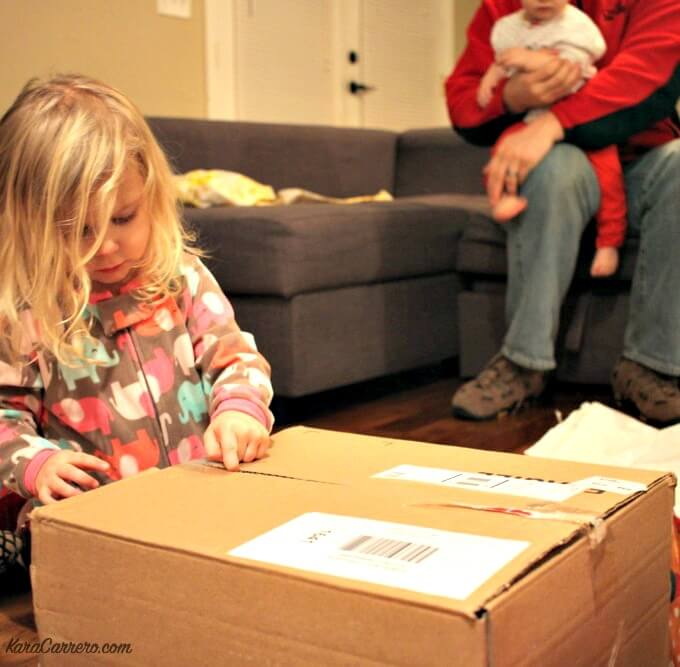 unpacking with kids
