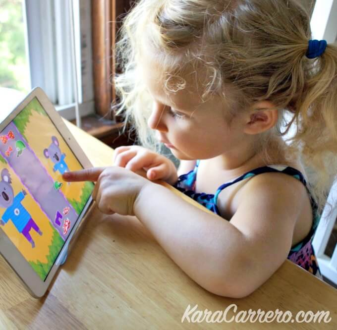 The importance of kids using a stand to use and watch the iPad