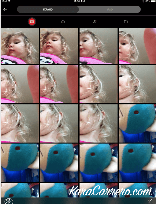 What to do with all those toddler selfies on the ipad. How to delete or save.
