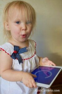 How to protect a young toddler while playing on the ipad.
