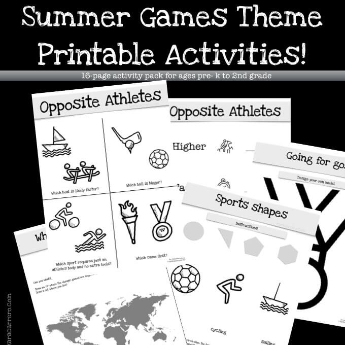 Olympics Unit Theme Printables and Activities {Free}