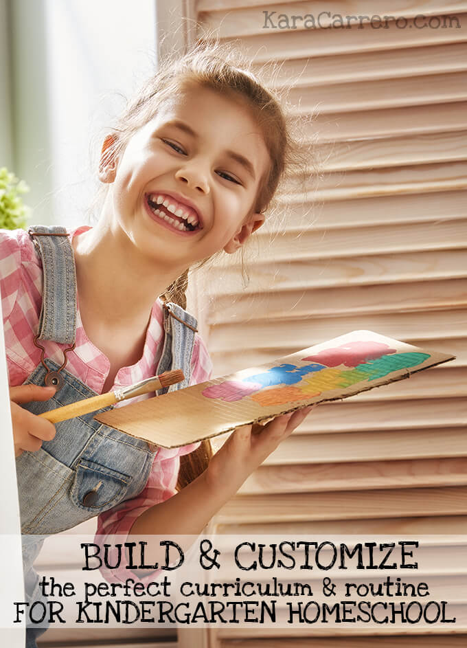 Looking to find the right way to homeschool your kindergartener? There is no one size fits all. But this guide will help you figure out how to customize your homeschool routine and build your own homeschool curriculum to suit the needs of your children and your family as a whole.