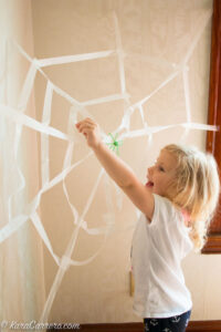 How to make a model spider web for learning games