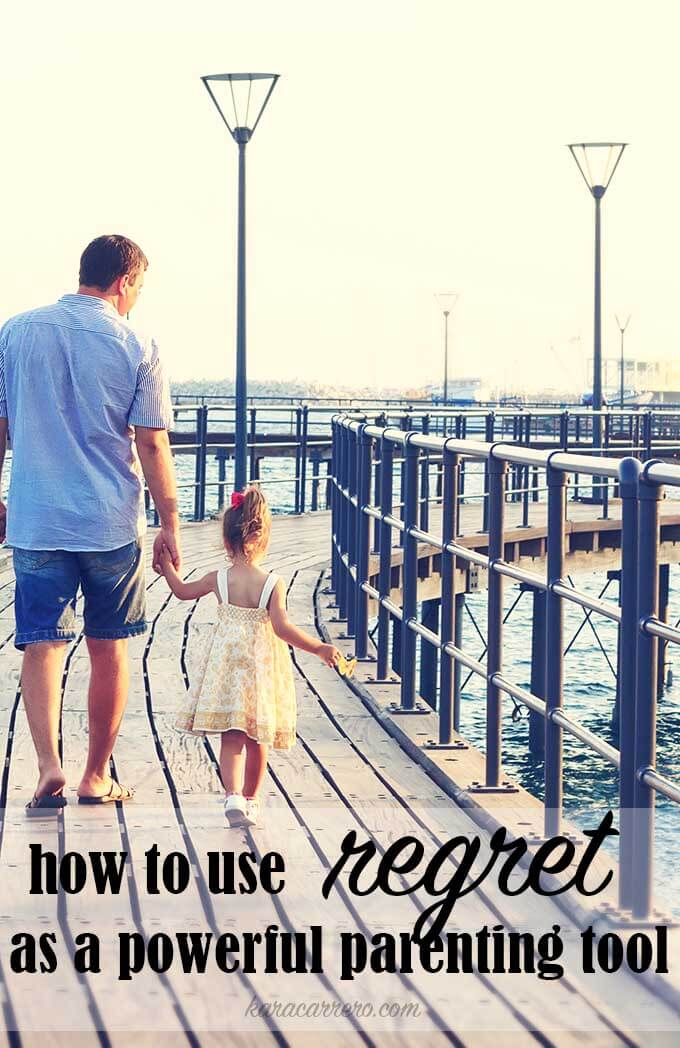 3 ways to learn from regret and overcome it as a parent. Learn to reconcile with your children and teach them the importance of living regret free by facing their challenges head on.