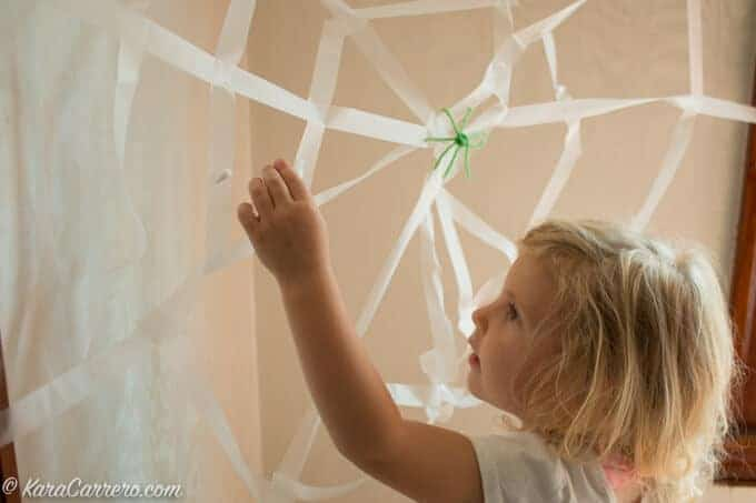 build a fake spider web learning activity-2