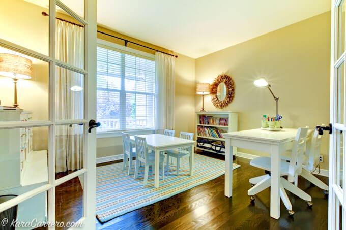 Homeschool study area