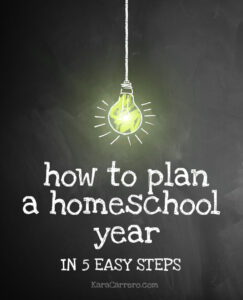 Home to plan a successful homeschool year