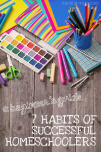 The 7 basics you need to start planning your homeschool year and really everything you need to know about successful homeschooling in the beginning with young kids.