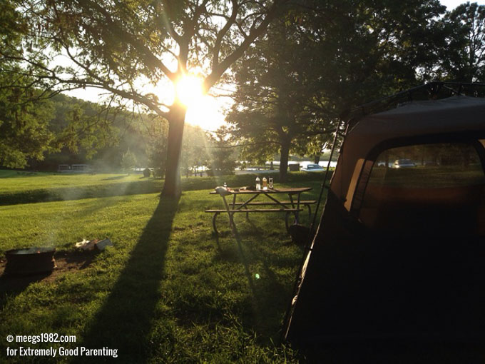 Learn how to pack for camping with young kids