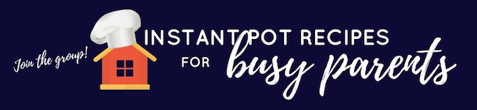 Join the instant pot for busy families recipe share group online!