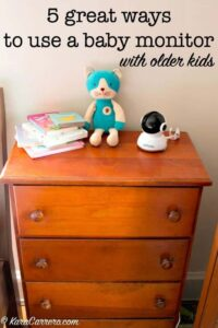 5 great ways to use a video baby monitor with toddlers, preschoolers, and older kids.