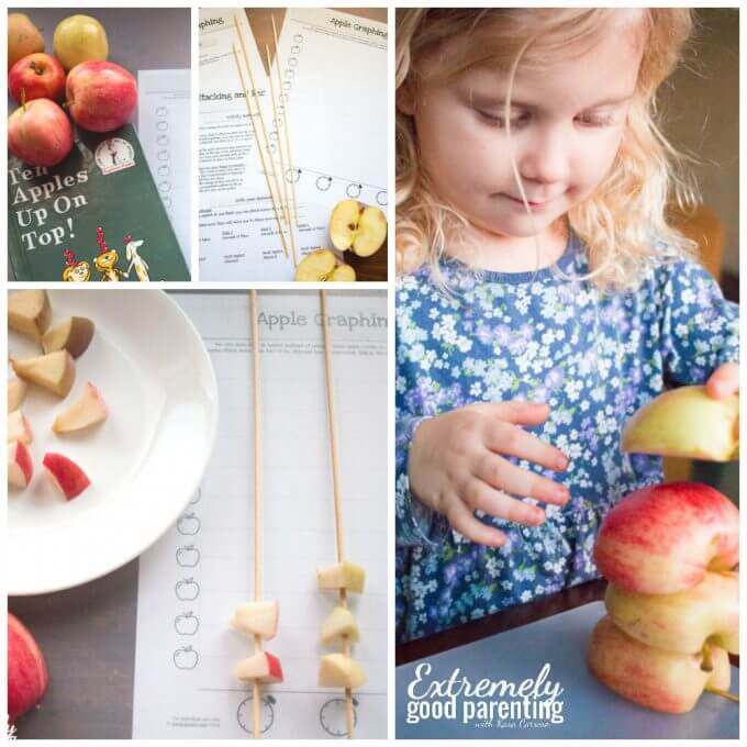 How to use Ten Apples Up On Top to teach basic math and graphing for hands on learners