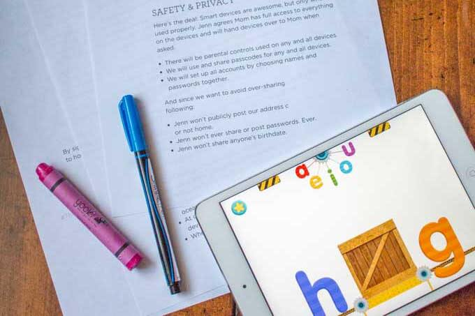 Excellent lessons 3 to 5-year-olds can learn from a digital device contract