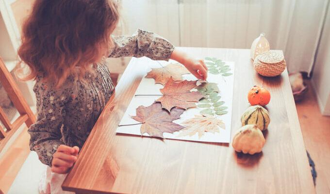 Autumn halloween crafts with kids