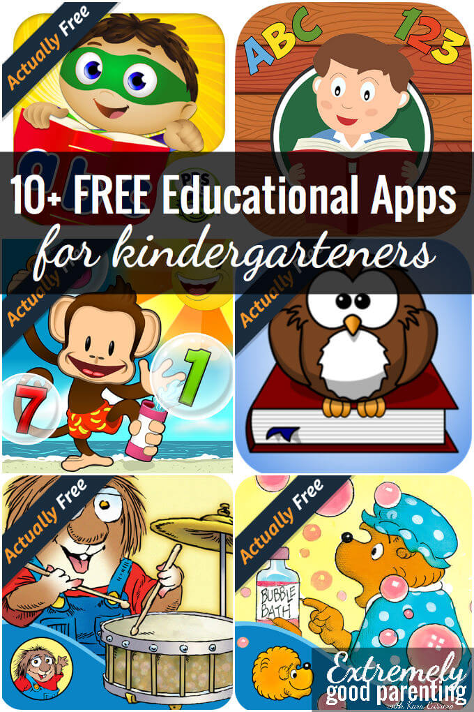 10+ free educational apps for kindergarteners