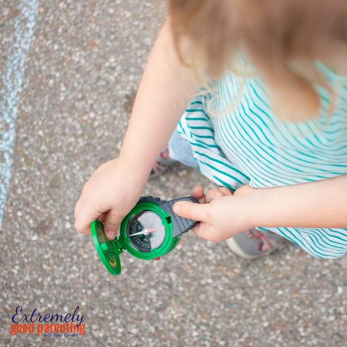 Compass skills activity for preschoolers and kindergarteners