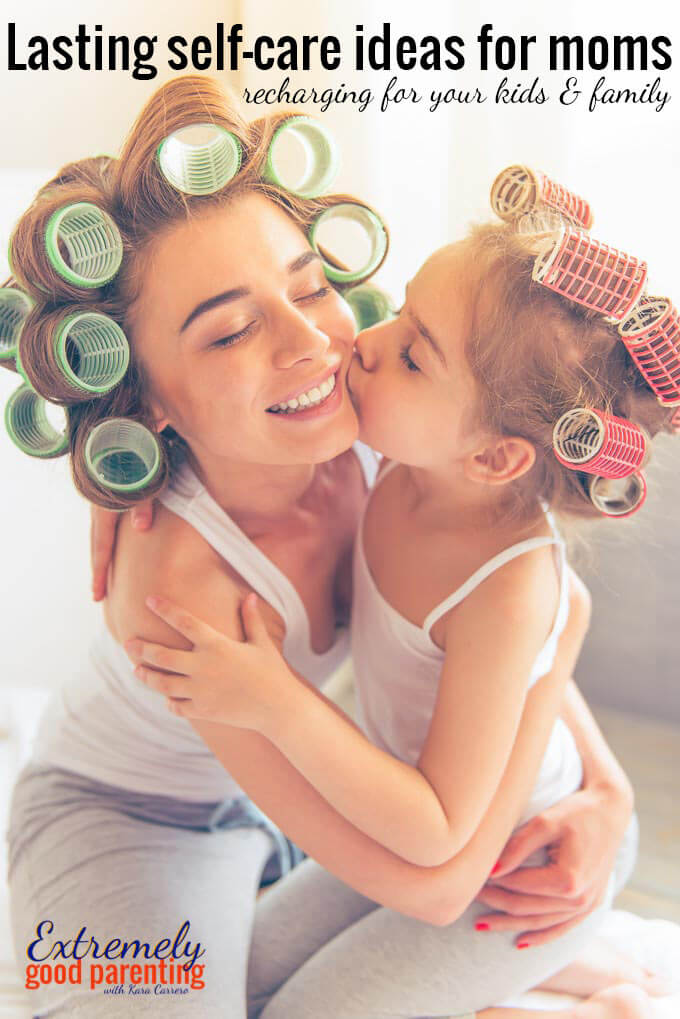 5 lasting ways to recharge as a mom and practice self care, not self-indugence. Ways to refill your parenting cup for the sake of your kids and family.