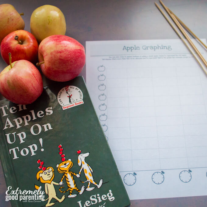 Ten Apples Up on Top inspired hands-on graphing activity