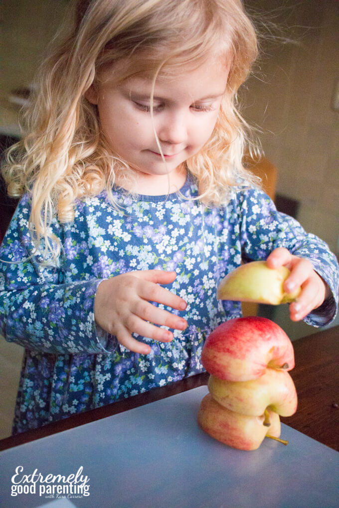 How many apples can you stack in a set time? Find out and graph it!