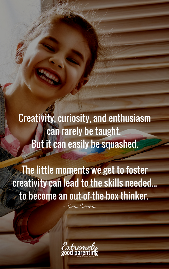 why Foster creativity in kids