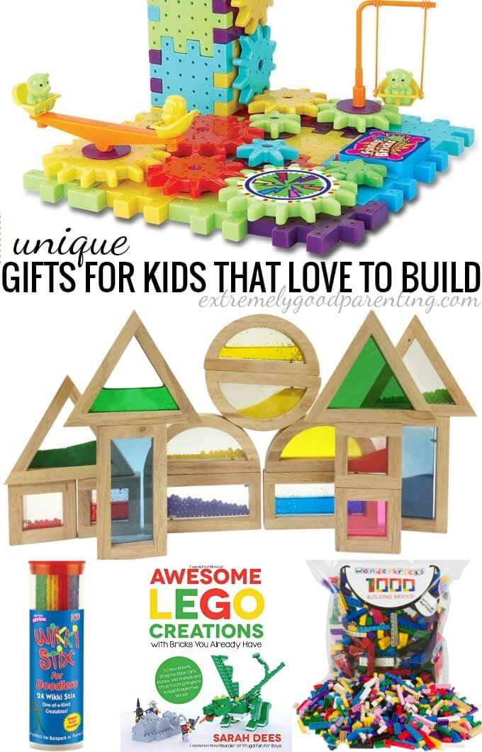 Unique gifts for kids that love to build.