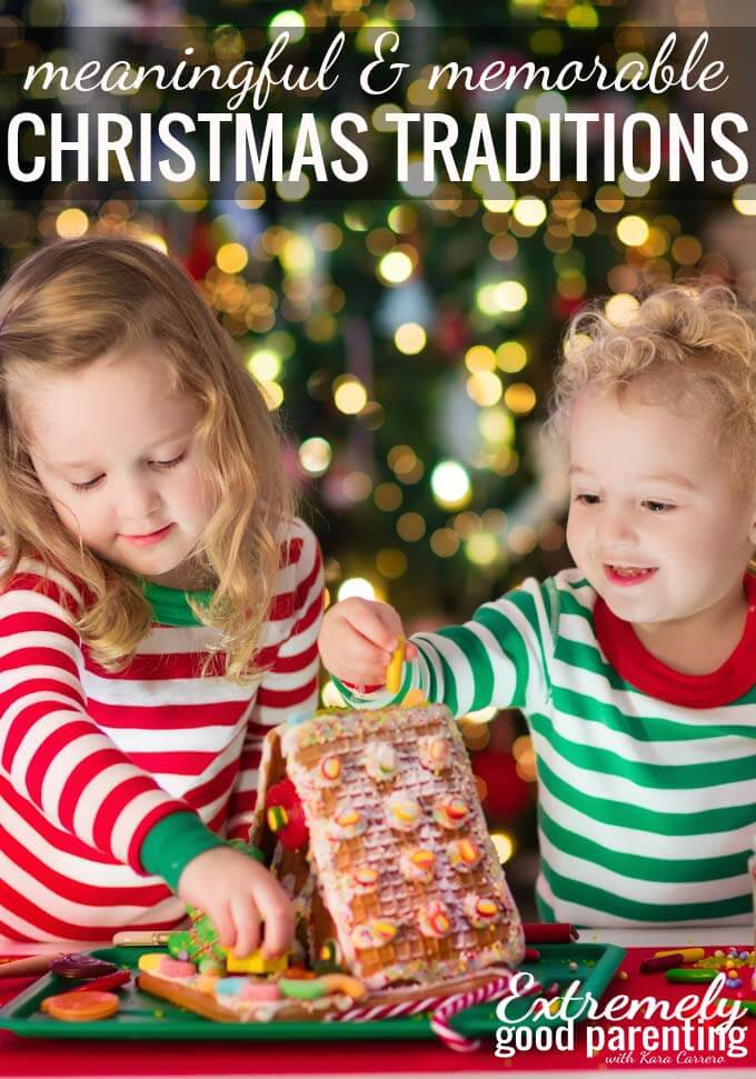 7 meaningful Christmas traditions for families to start. Memorable ideas that are alternatives to elf on a shelf and Santa.