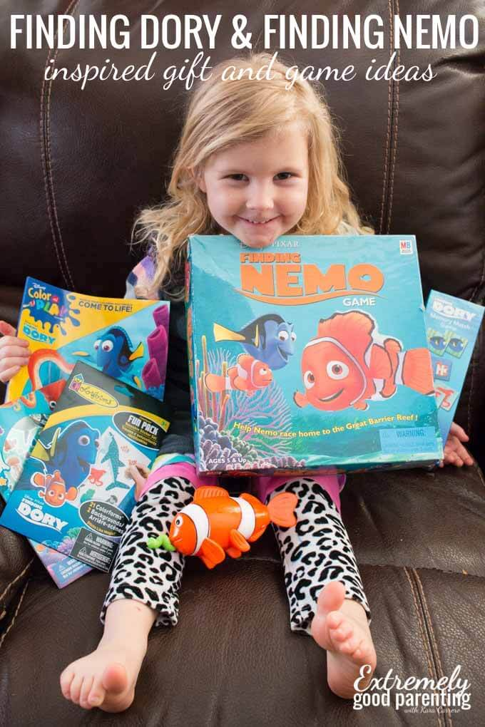 10+ gift and party ideas for Finding Dory and Finding Nemo loving kids.