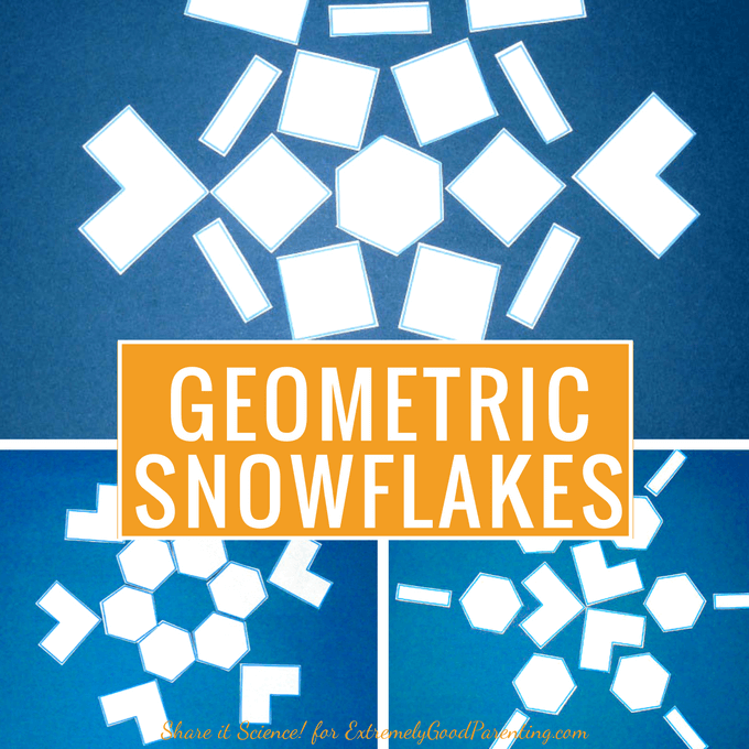 How to explore snowflake contruction and the uniqueness of each flake with kids while learning about math and geometry.