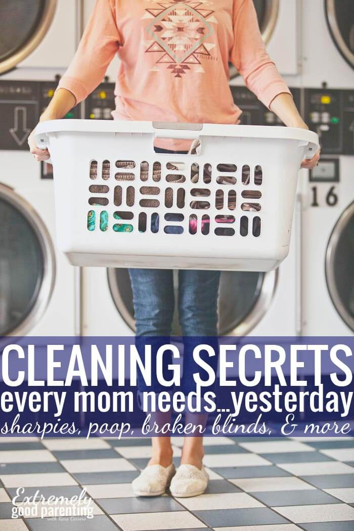 Mom cleaning hacks for everything from broken blinds to tackling the toughest messes and stains.