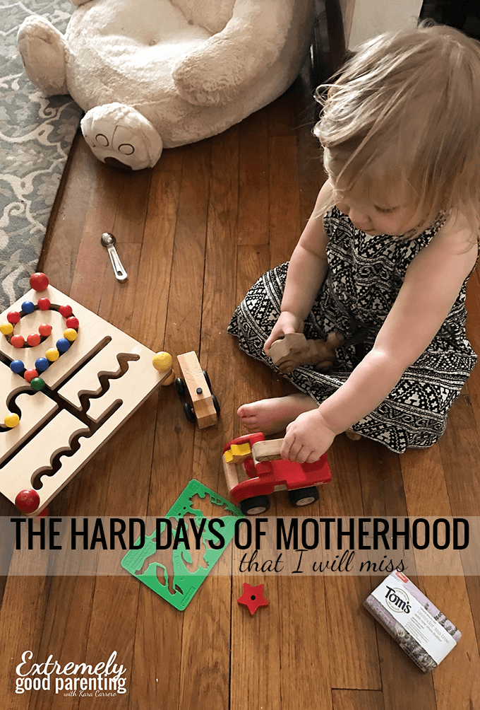 The hard days of motherhood that I will miss when rushing to take a shower is stressful but also a fond memory
