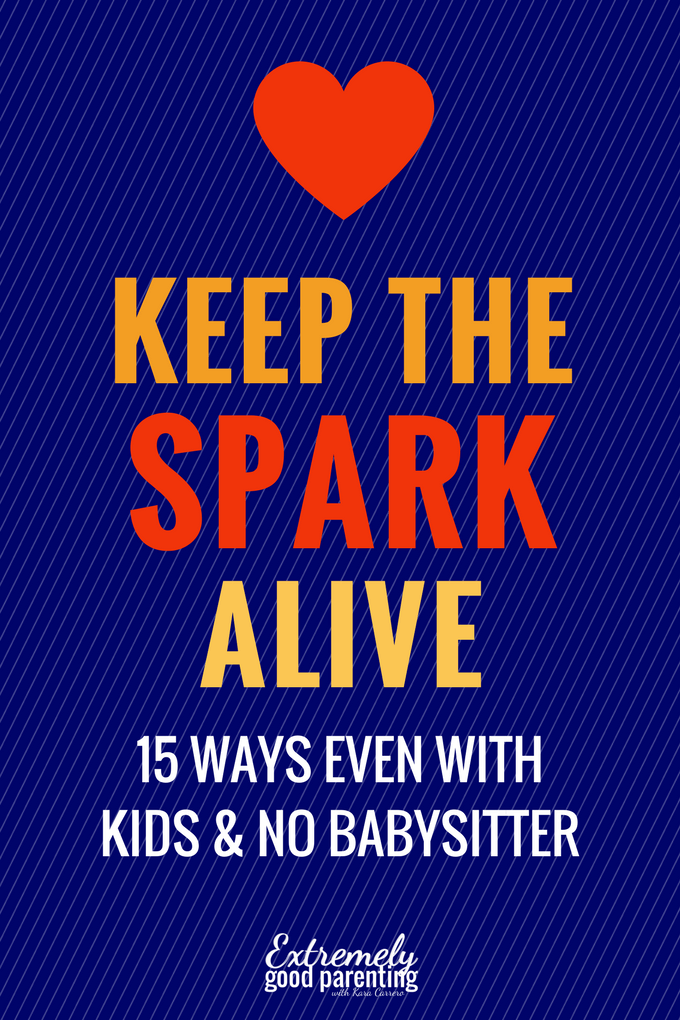 15 ways to keep the marriage spark alive. In home date night ideas when you don't have a babysitter for the kids.