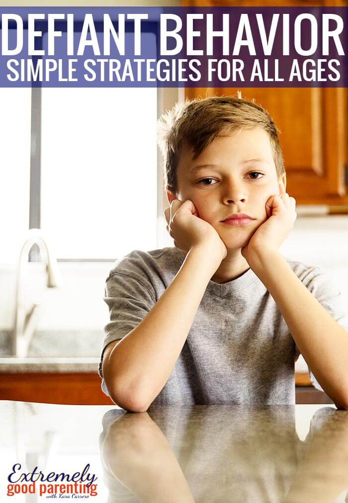 Parenting tips to deal with defiance in kids. Strategies for dealing with disobedient toddlers but also unruly and obstinate teens and tweens!