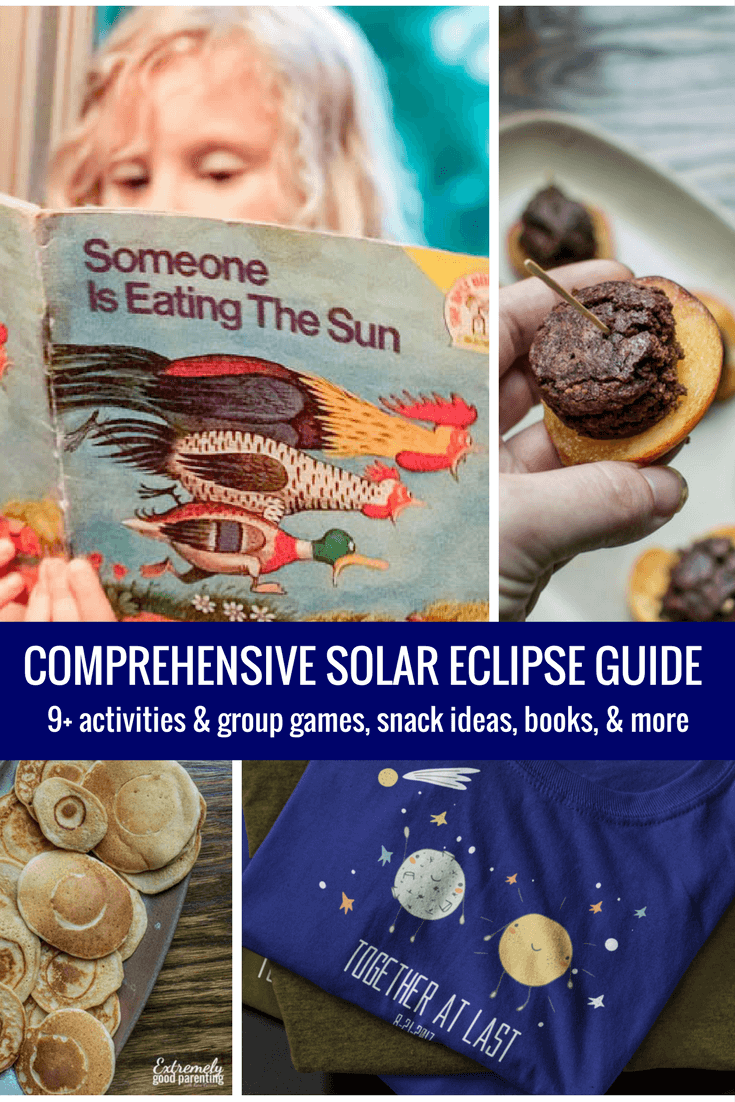 Comprehensive solar eclipse guide for teachers and parenting. Includes printable, activities for both individuals, groups and classrooms, and even snack ideas!