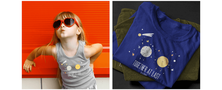 funny and cute Solar eclipse t-shirt design for kids