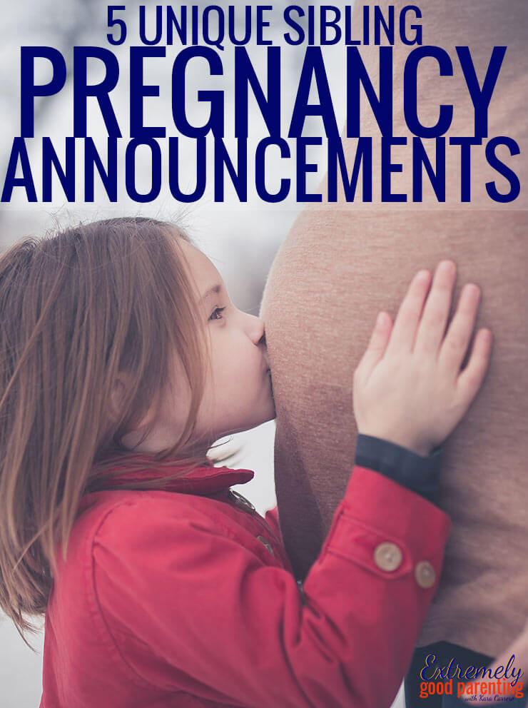 Unique and cute pregnancy announcements to let siblings share the news of a new baby. Let them be a part of telling friends and family they are going to be a big brother or big sister!