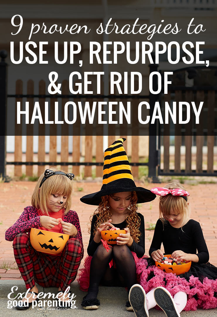 The best ways to deal with leftover Halloween candy. 9 Strategies to reduce the amount of sugar they eat while finding fun traditions, memories, or ways to help others in the process!
