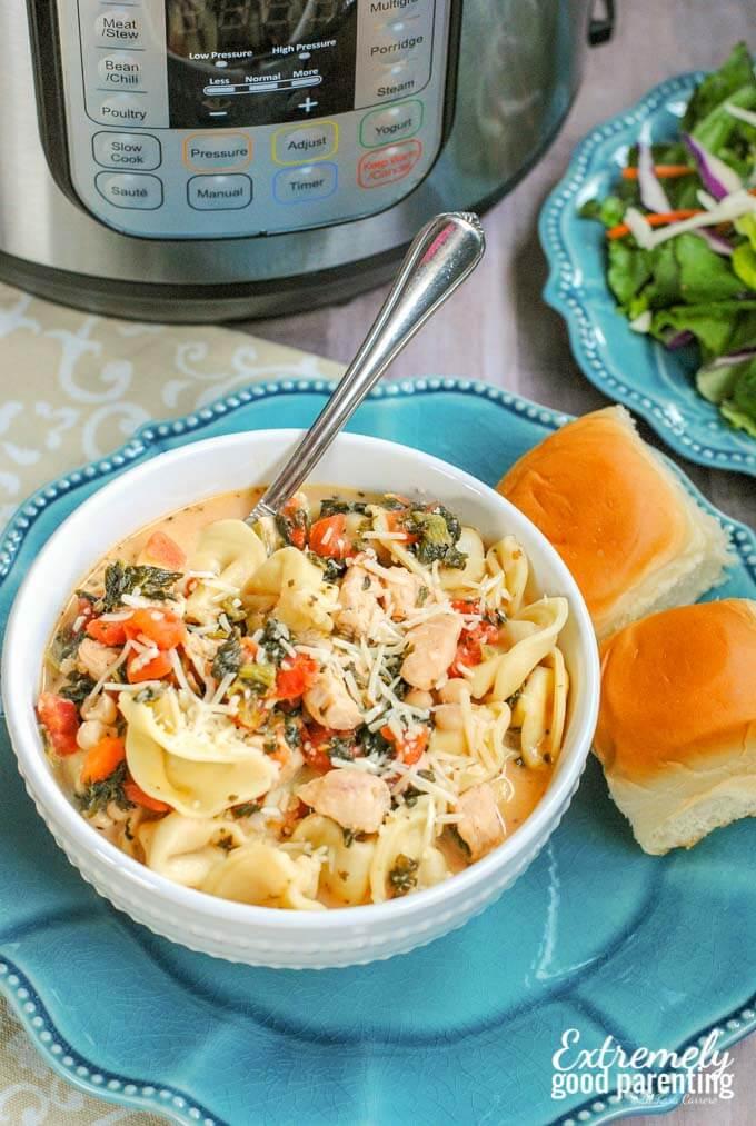 Instant Pot Tuscan Tortellini - a delicious Italian recipe the whole family will love