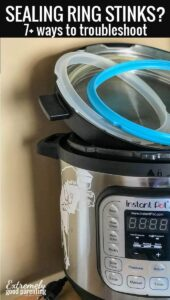 How to clean your instant pot sealing ring. If the seal smells, stinks, or in other ways contains and odor, here's how to get rid of it! #instantpot
