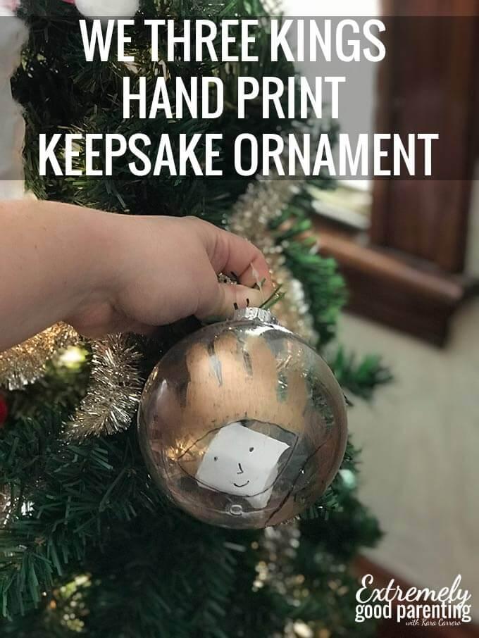 We 3 kings #handprintart ornamemt for #Christmas