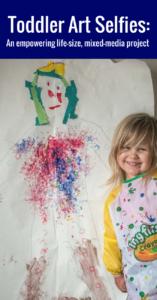 Toddler body part unit - life size mixed media self portrait #ece #totschool