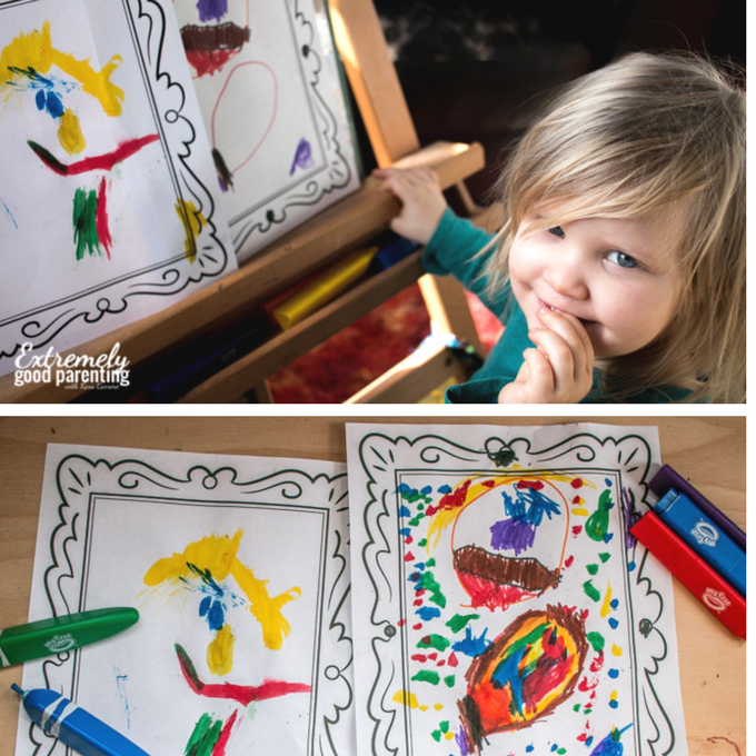 How to create iopen-ended play for toddlers to explore self portraits. #playmatters #totschool