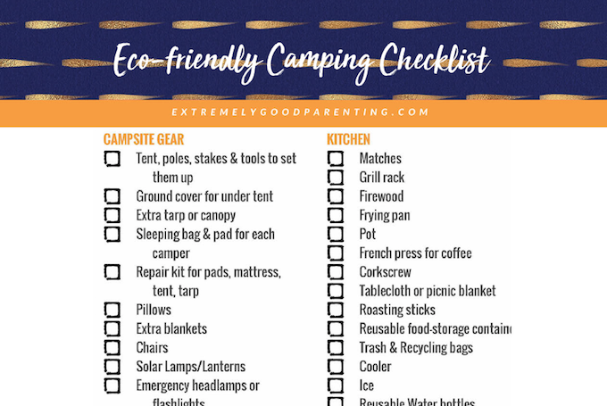 Free family camping packing list download